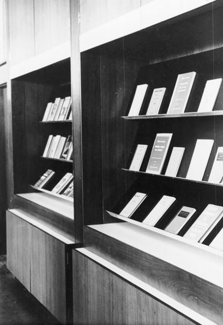 Library Display Stand, County Hall Loughborough Road, West Bridgford, c 1960s