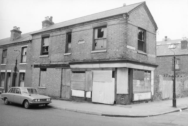 Denman Street/Dulwich Road, Radford, Nottingham, 1976