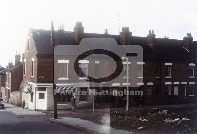 Ford Street from Monsall Street, Basford, Nottingham, c 1975-80s