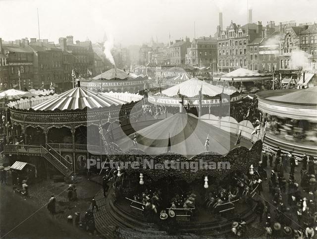 Goose Fair, Market Place, Nottingham, c 1910