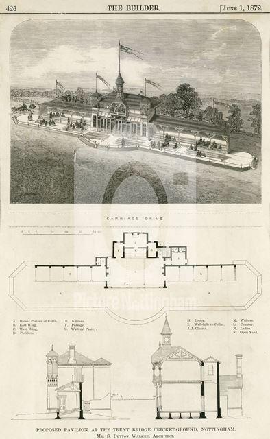 Proposed Cricket Pavilion, Hound Road, West Bridgford, Nottingham, 1872