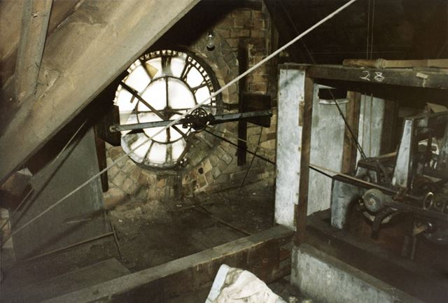 Inside of Clock Face, Widdowson's Dye Works, Vernon Road, Basford, Nottingham, 1986