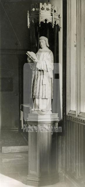 Sculpture on Pillar, St Stephen's Church Exterior, Sneinton, Nottingham, c 1948