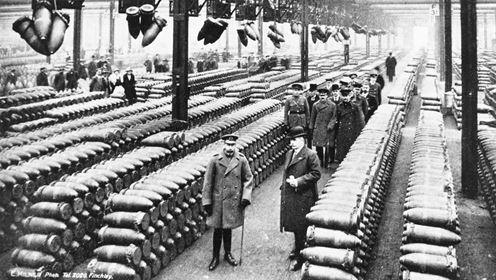 King George V visit to National Shell Filling Factory, Chetwynd Road, Chilwell,1916