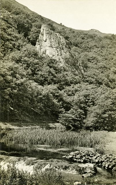 View of River Dove, Dovedale, c 1930s