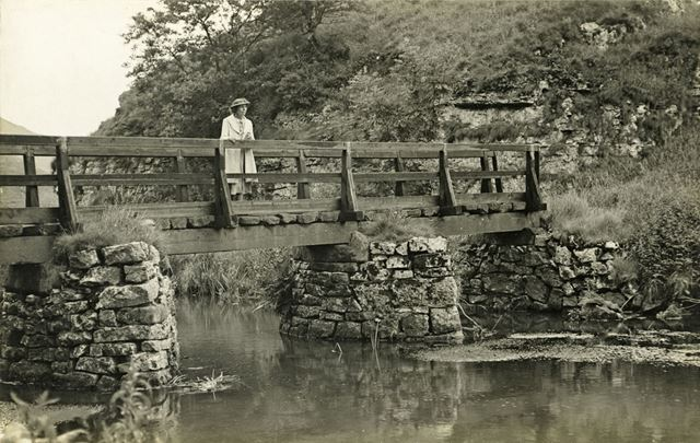 Foot Bridge, Beresford Dale, Dovedale, c 1930s