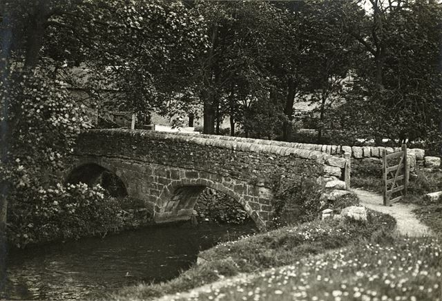 Viator's Bridge, River Dove, Milldale, c 1920s
