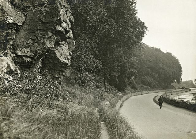 View North Eastwards, Crag Road, Creswell Crags, c 1910s