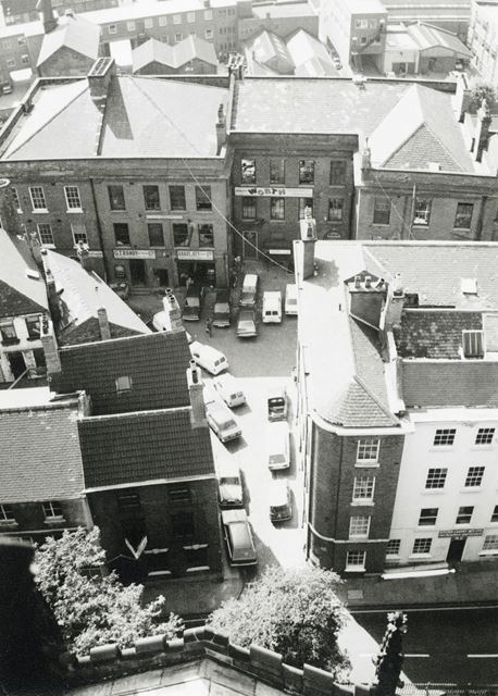 High Level View of Commerce Square, Lace Market, Nottingham, c 1975