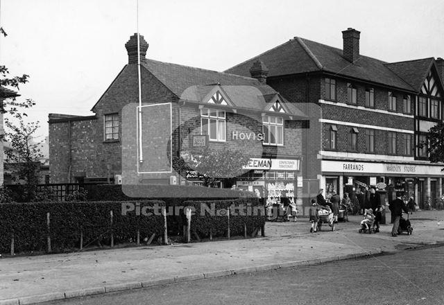Freeman's Shop and Sub-Post Office, Broxtowe Lane, Broxtowe, Nottingham, 1949