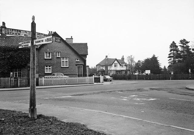 Clifton Lane View to Junction from Ruddington Lane, Wilford, Nottingham, 1963