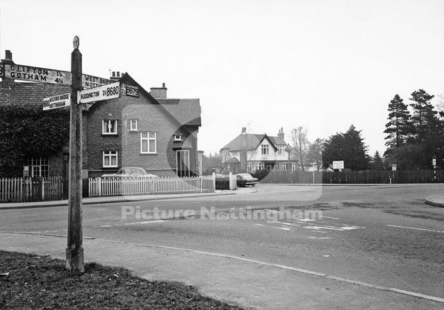Clifton Lane View to Junction from Ruddington Lane, Wilford, Nottingham, 1963
