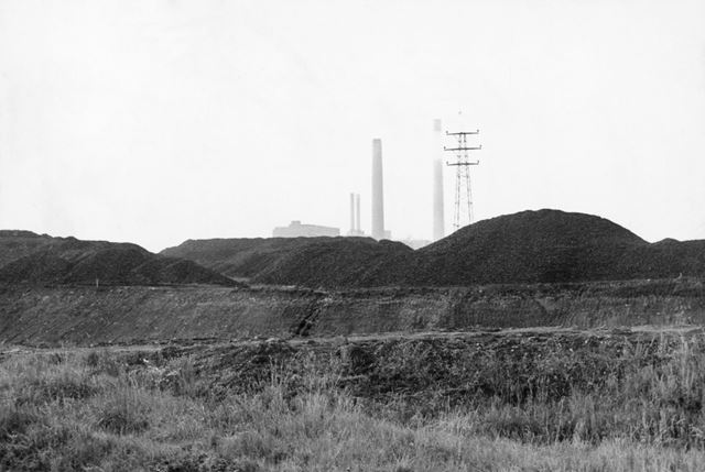 Clifton Colliery and the River Trent, from Wilford, Nottingham, c 1970
