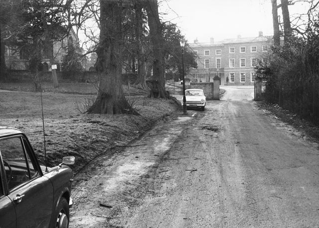Clifton Hall and St. Mary's Church, Clifton Hall Drive, Clifton Village, Nottingham, c 1969
