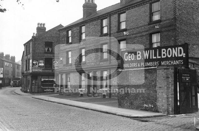 96-84 St. Peter's Street, Radford, Nottingham, 1949