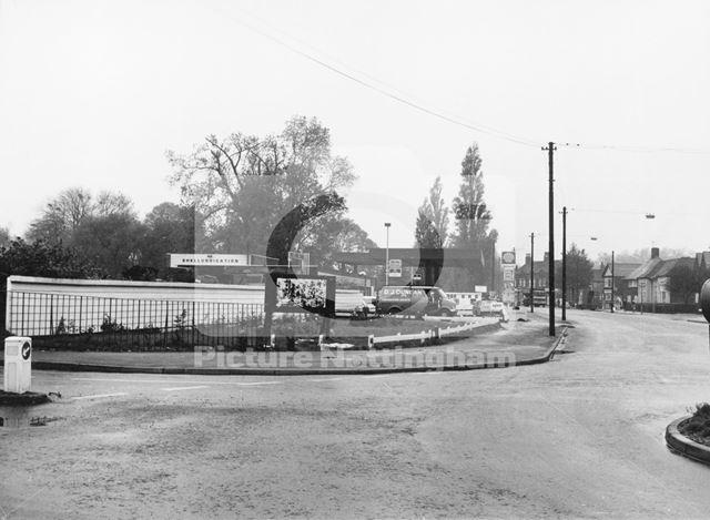 Hucknall Lane from Moor Bridge Looking South to Bulwell, Bulwell, Nottingham, c 1980