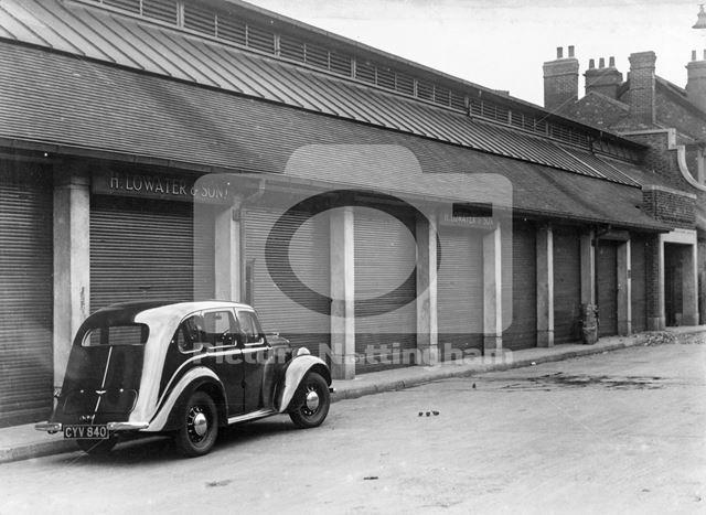 Sneinton Wholesale Market, Sneinton, Nottingham, 1949