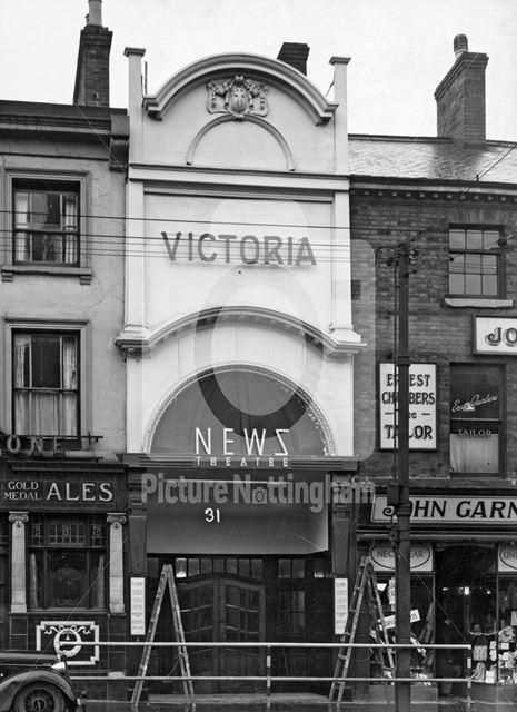 Victoria Cinema, Milton Street, Nottingham, 1949