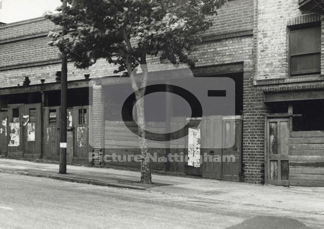 Between Barrack Lane and Rock Villas, Derby Road, Nottingham, 1949