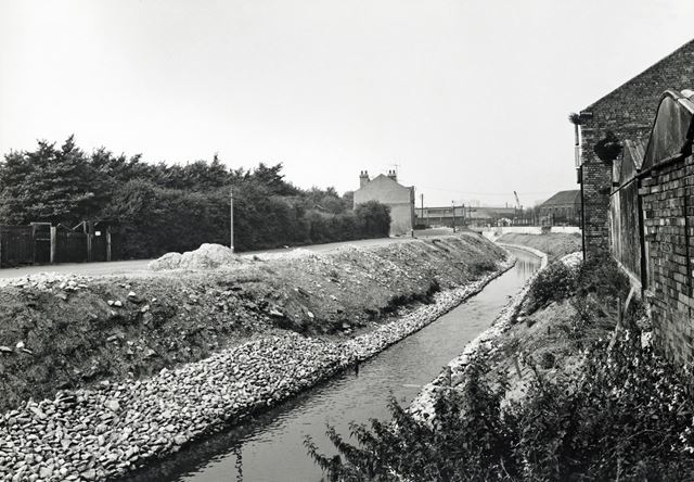 River Leen and Site of QMC, Lenton, Nottingham, 1967