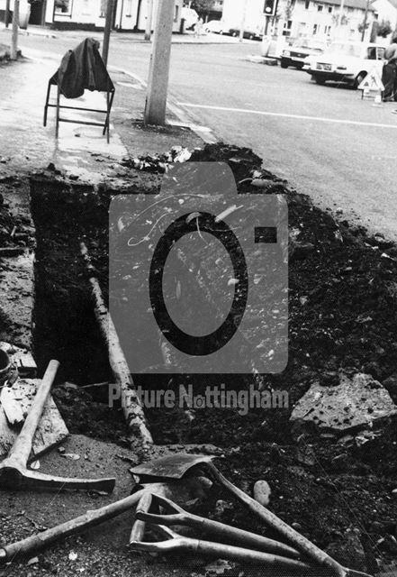 Road Works, Gregory Street, Lenton, Nottingham, 1981
