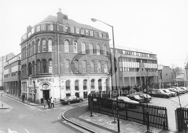 Halifax Place and Pilcher Gate, Lace Market, Nottingham, c 1980s