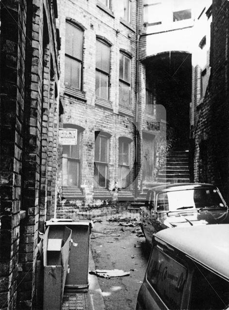 Halifax Place, Lace Market, Nottingham, c 1970s ?