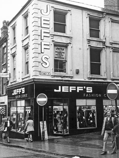 Jeff's Fashion Centre, Goose Gate, Carlton Street, Nottingham, c 1970s