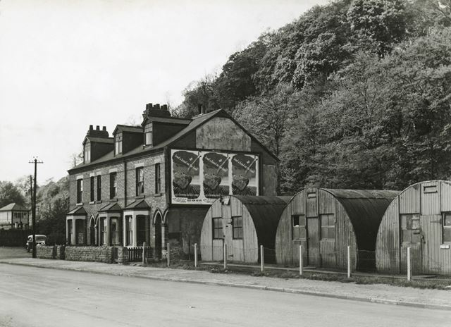 Housing with Air Raid Shelters, Colwick Road, Colwick, Nottingham, 1949