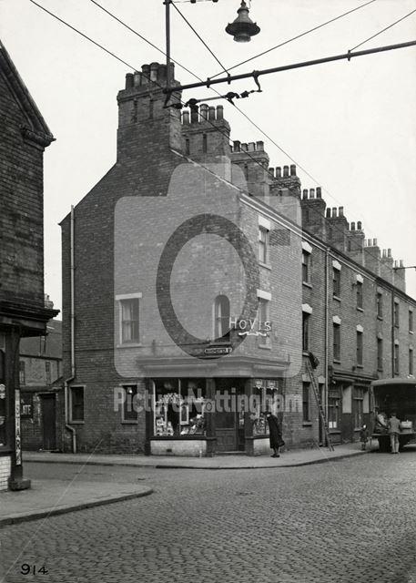 Shop on Corner of Manchester Street and Handel Street, St. Ann's, Nottingham, 1950