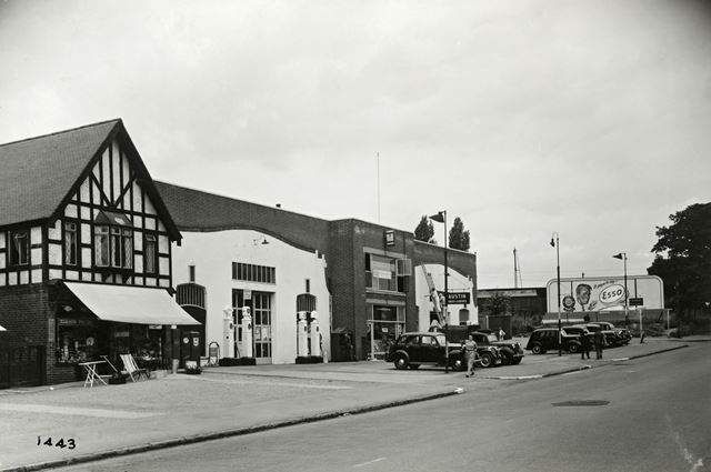 Clewers Ironmongers and Wards Garage, Mansfield Road Daybrook, Arnold, 1951