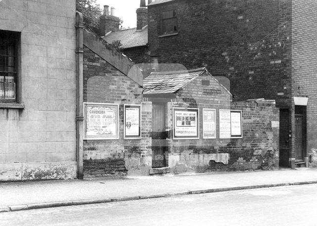 Bill Posters on Harrimans Lane, Dunkirk, Nottingham, 1949