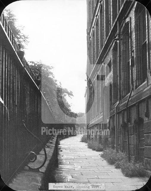 Kaye's Walk, Lace Market, Nottingham, c 1950