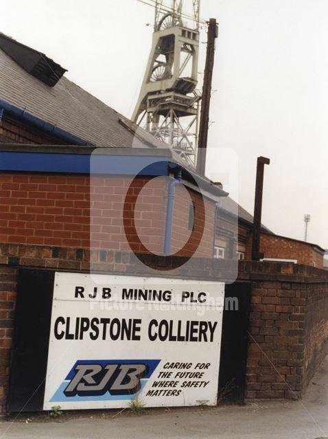 Clipstone Colliery Headstocks, Mansfield Road, Clipstone, 1999