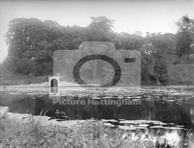 Cuckney Dam on the River Poulter, Cuckney, c 1932