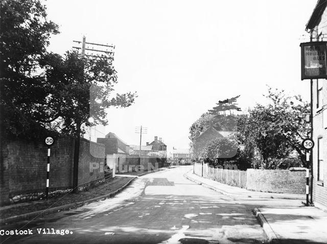 Main Street Looking West, Costock, c 1950s - 1960s