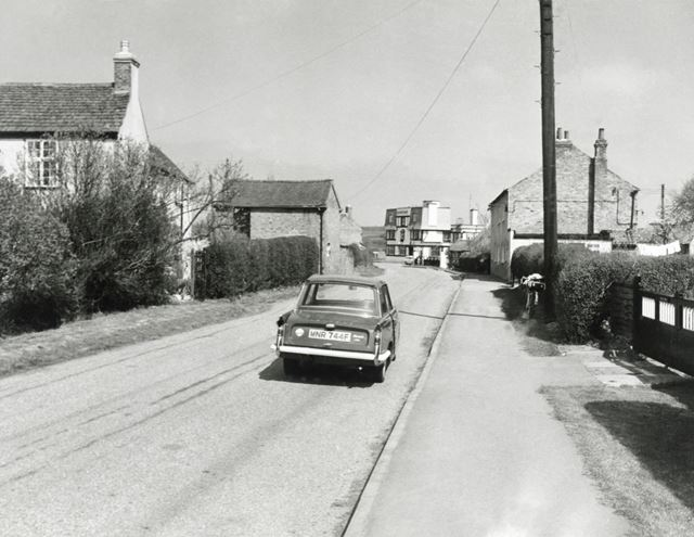 Old Main Road Looking North to Wysall Road, Costock, 1974