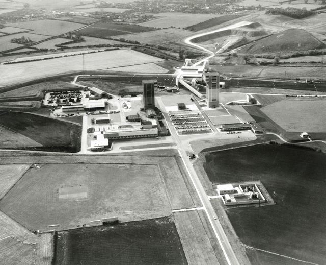 Aerial View of Cotgrave Colliery, Colliery Way, Cotgrave, c 1950s