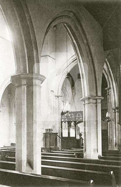 Interior of St. Wilfred's Church, Kelham Hall, Kelham, c 1930s ?