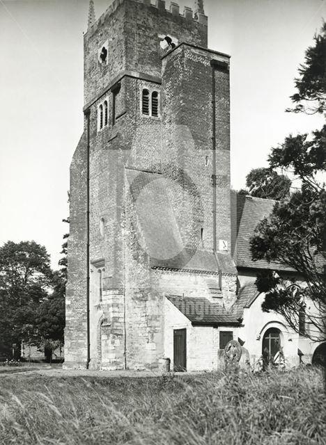 St Swithin's Church, Kirklington, c 1949