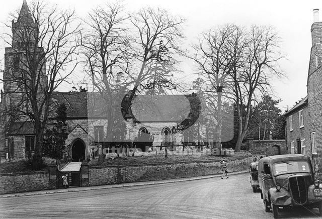 St Mary Magdalene Church, Nottingham Road, Keyworth, c 1945