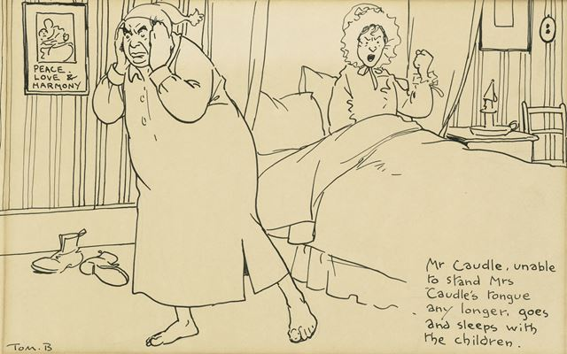 'Mr Caudle, Unable to Stand Mrs Caudles's Tongue Any Longer Goes and Sleeps with the Children', c 19