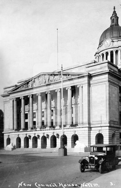 Council House, Old Market Square, Nottingham, c 1930