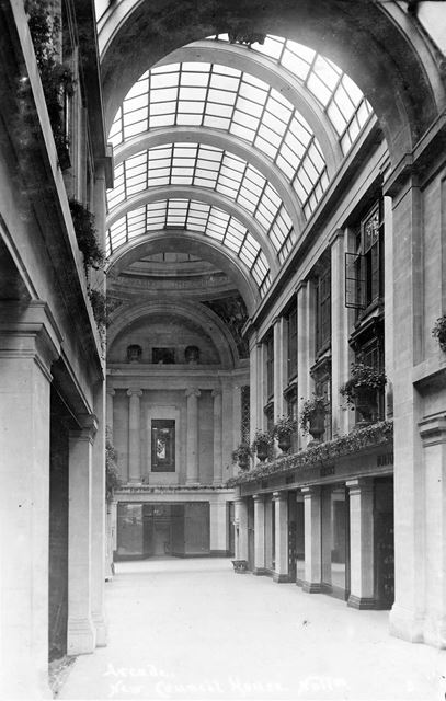 Council House Arcade, Old Market Square, Nottingham, c 1930