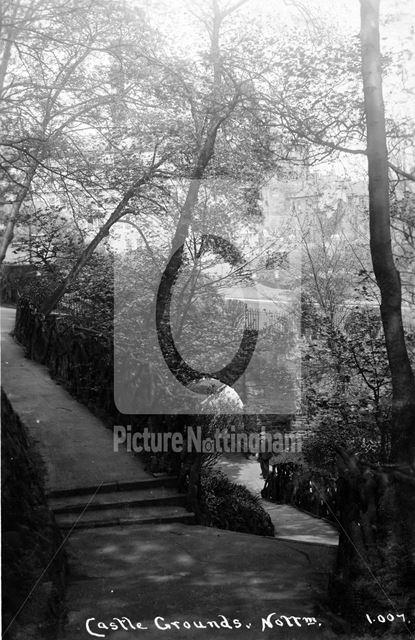 Nottingham Castle Grounds, c 1925