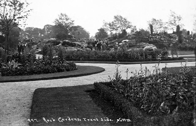 Rock Gardens, Victoria Embankment, The Meadows, Nottingham, c 1925