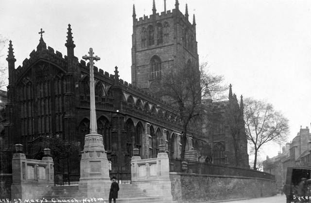 St Mary's Church, High Pavement, Lace Market, Nottingham, c 1925