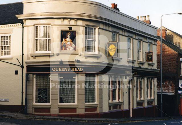 Queens Head Pub, Main Street, Kimberley, Nottingham, 1998