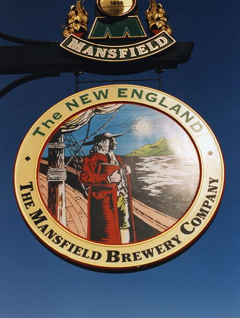 New England Pub, Chesterfield Road North, Mansfield, 1998