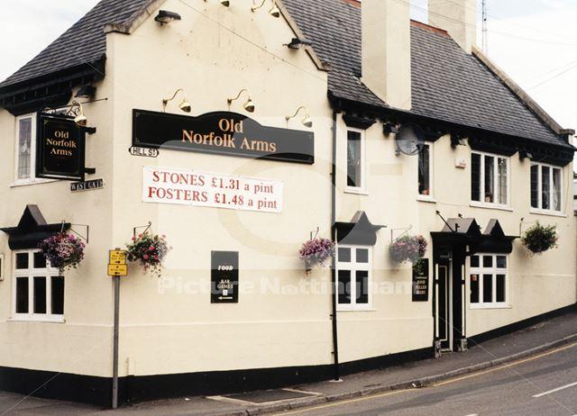 Old Norfolk Arms, West Gate/Hill Street, Worksop, July 1998